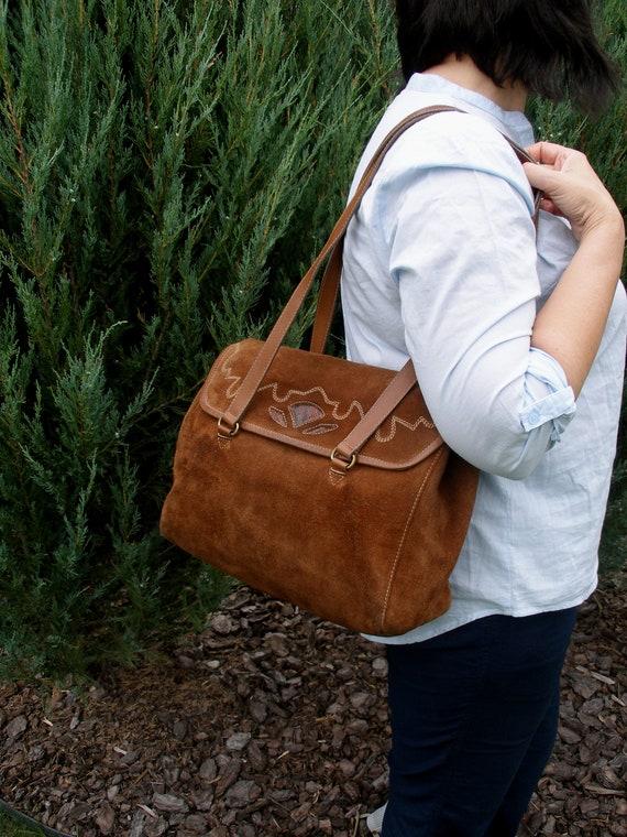 vintage brown handbag women leather bag leather shoulder  1fd5e0a815721