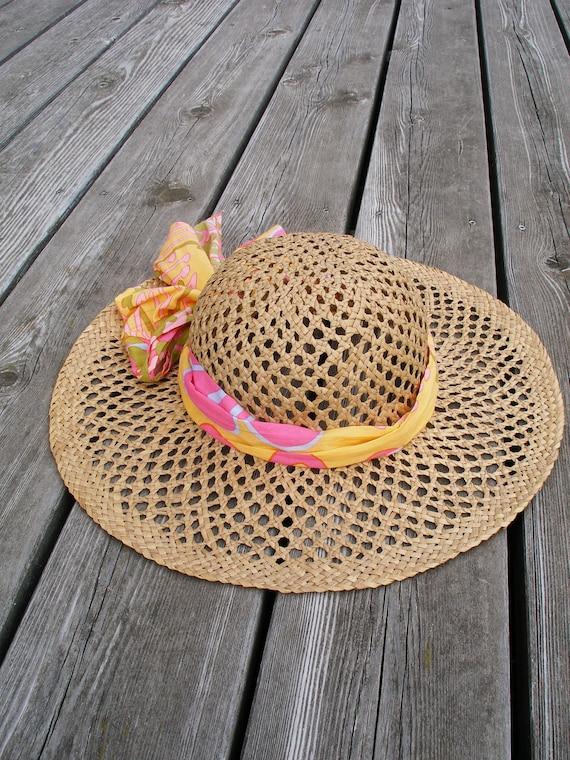 Floppy Sun Hat, Floppy Beach Hat, Vintage Sun Hat,