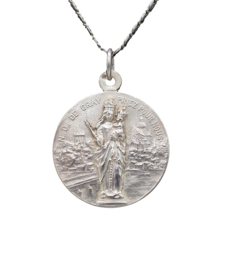 Our Lady of Gray Vintage Medal