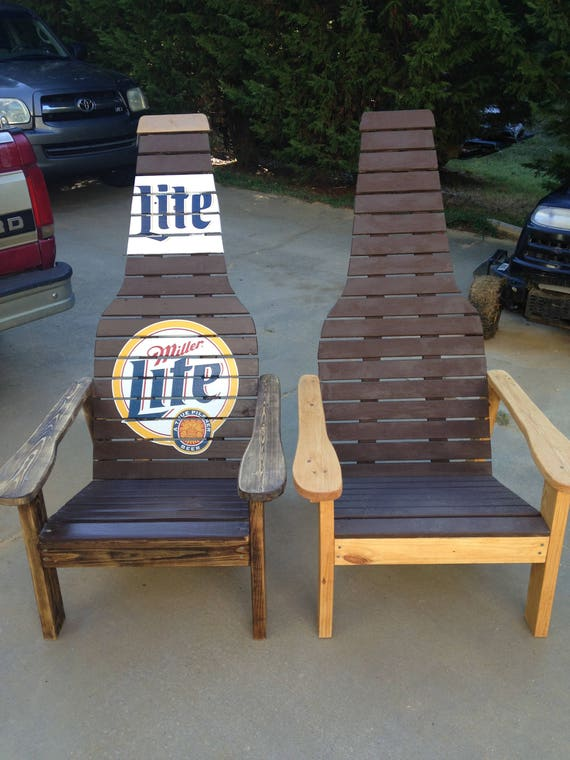 Outdoor Furniture Wood Chair Beer Bottle Adirondack Chair Etsy