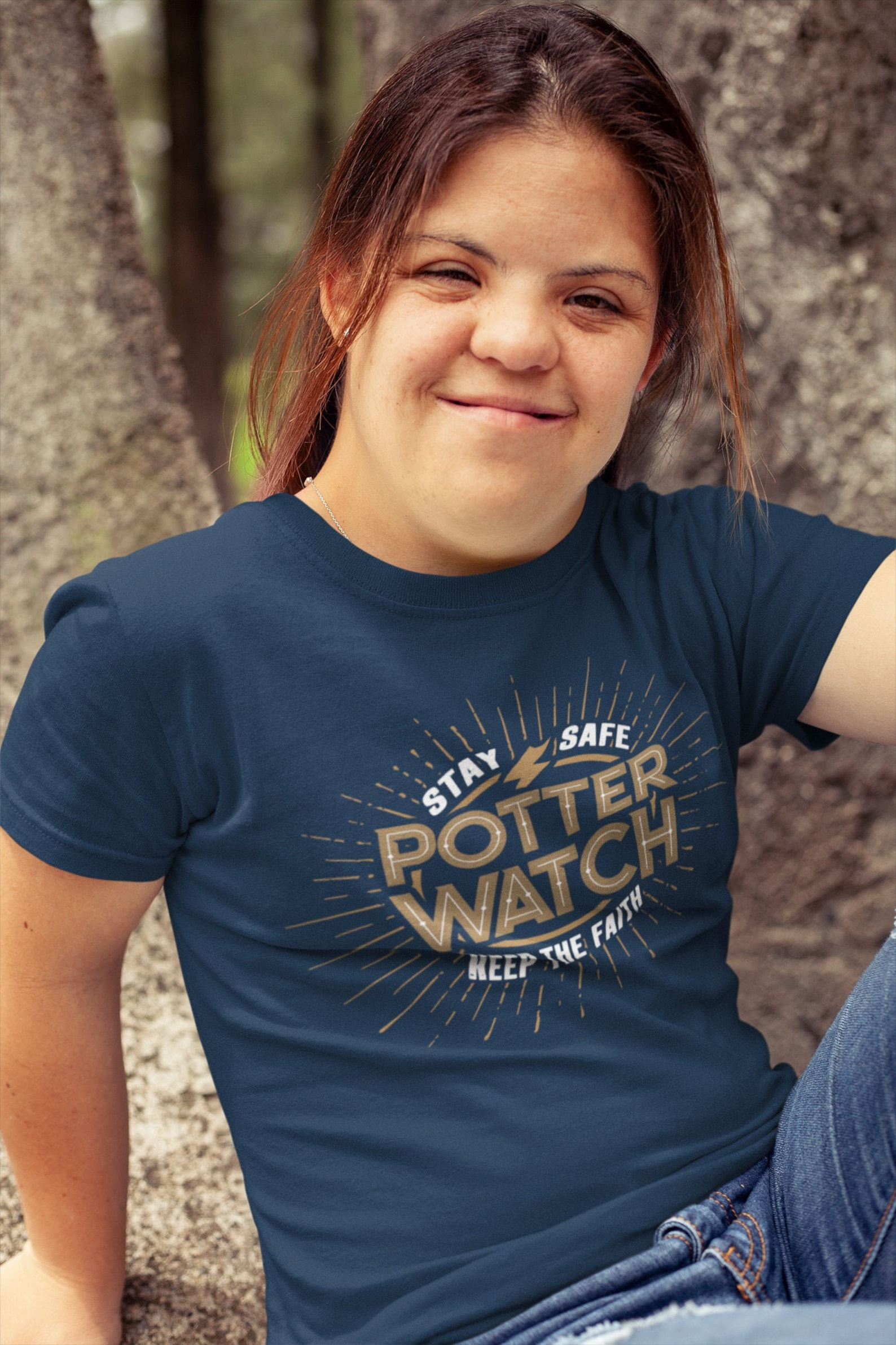 We're on the Harry Potter Watch. Girl wearing Harry Potter t-shirt