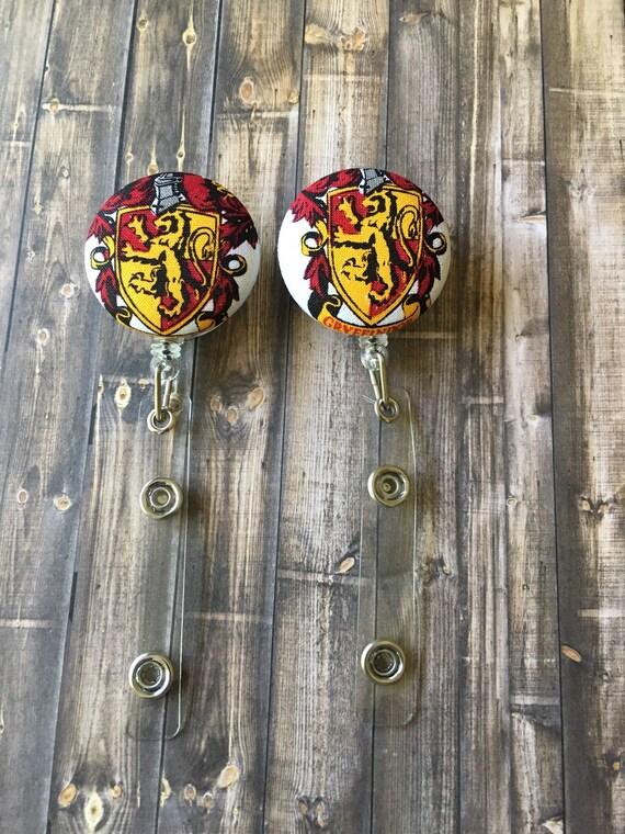 Gryffindor Crest Harry Potter Inspired Badge Reel Etsy