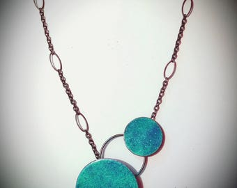 Enameled Copper Necklace