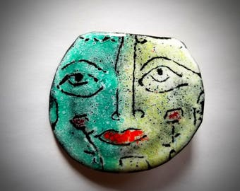 Enameled Copper Broach