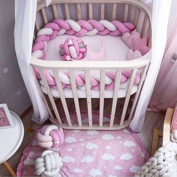 Braided Crib Bumper Crib Bedding Baby Shower Nursery Etsy