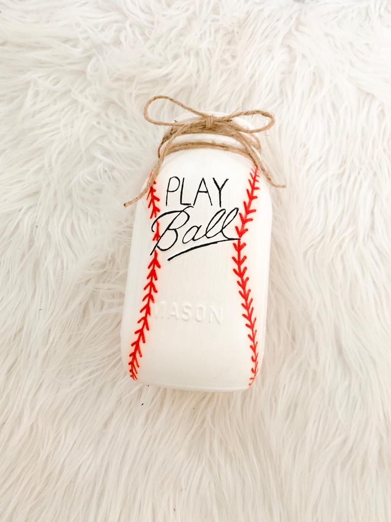 Nursery Baseball Mason Jars Sports,gift for him Football Baby showers birthday gift Centerpieces Sports Theme Mason Jars Basketball