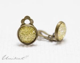 Glitter Dust Earrings | Gold Bronze/Brass