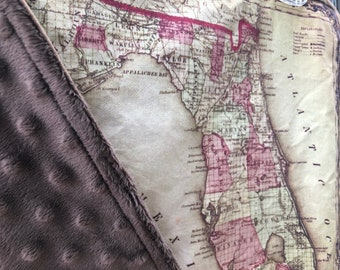 lovie Petersburg map blanket Russia map baby minky security blankie St small travel blanky lovey woobie 16.5 by 16 inches