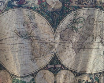 World map quilt etsy world map minky blanket baby cuddle quilt shoulder wrap wheelchair lap blanket vintage art map of the world 31 by 41 inch gumiabroncs Image collections