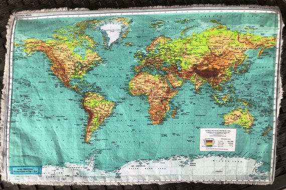 World map blanket colorful map of the world baby minky etsy image 0 gumiabroncs Images