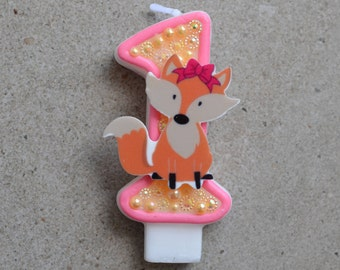 Fox birthday candle / birthday candle fox / fox candle / fox birthday theme / fox party candle / fox birthday / fox party / woodland theme