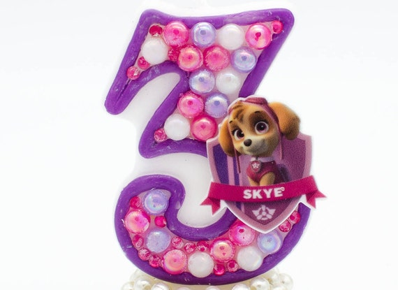 Skye Birthday Candle Paw Patrol