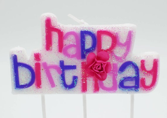 Letter Candles Candle Happy Birthday