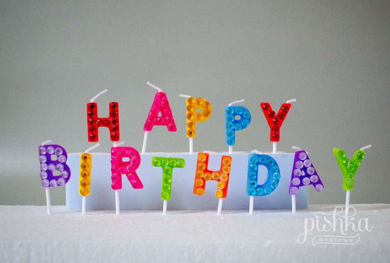 Happy Birthday Candles Letter