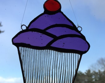 Stained glass cupcake
