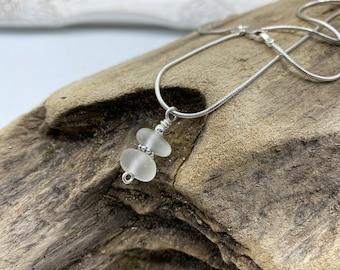 Beach Glass Necklace | Sea Glass Necklace | Beach Glass | Sea Glass | Beach Glass Stacker Necklace