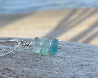 Beach Glass Necklace - Sea Glass Necklace - Beach Glass - Sea Glass - Stacker Necklace