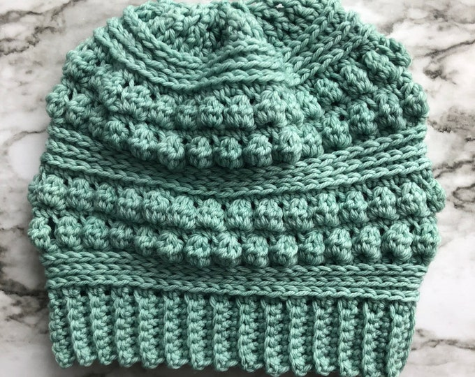 CROCHET PATTERN: The Lola Beanie | Crochet Hat, Crochet Beanie, Crochet Toque, Bobble Beanie, Bobble Hat