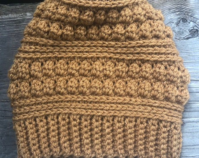 THE LOLA BEANIE: Bronze   Crochet hat, winter hat, crochet beanie, knit hat, knit beanie, toque