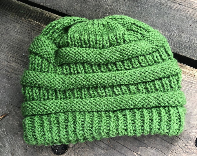 COPYCAT CC Beanie: UND Green | Knit hat, knitted hat, knit beanie, knit toque, winter hat