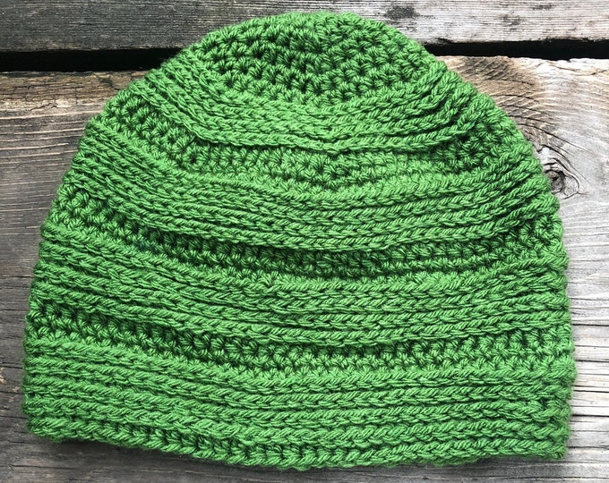 GREAT DIVIDE Beanie: UND Green | Crochet hat, crochet beanie, crochet toque, winter hat, knit hat, knitted hat