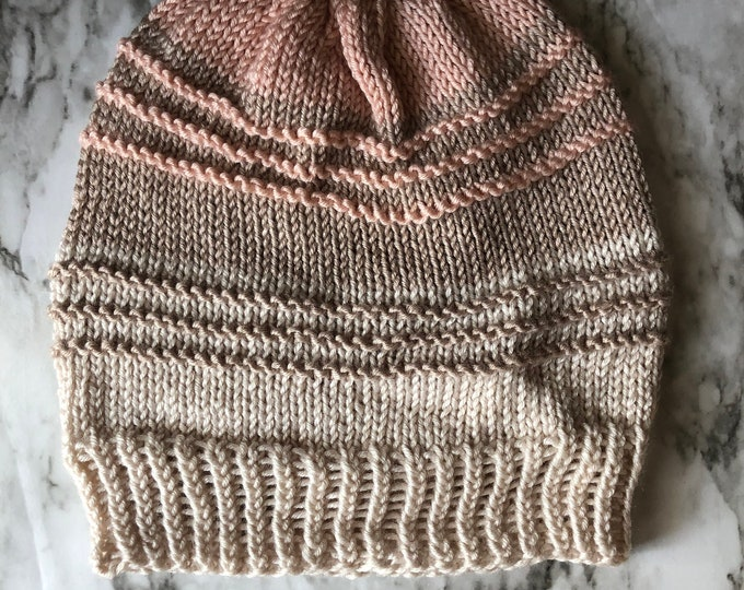 KNITTING PATTERN: The Georgia Beanie | Knitting pattern, hat pattern, beanie pattern, winter hat, toque