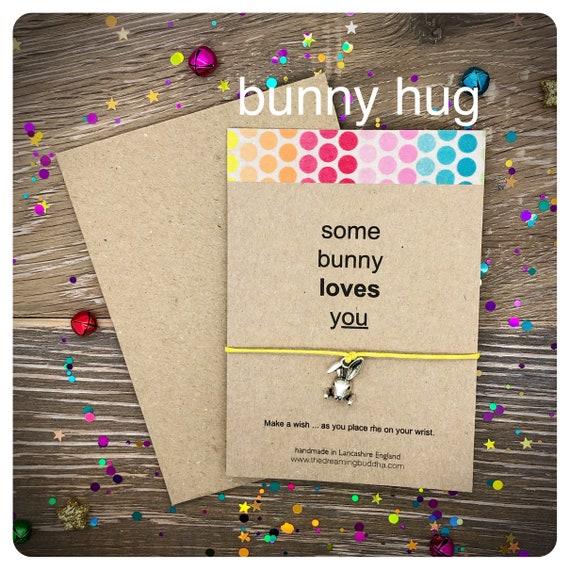 Friendship Bracelet Wish Bracelet Some-bunny Loves You Rabbit Wish-let Beaded Wish Bracelet