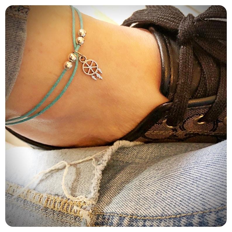 8558baa27dfc8 Dream Catcher Anklet, Dreamcatcher Ankle Bracelet, Boho Beach Jewelry,  Beaded Anklet, Summer Ankle Bracelet, Safe Travel Gift