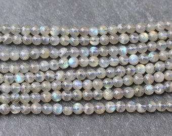 3MM DOVEWHITE FELDSPARE GEMSTONE ROUND 3MM LOOSE BEADS 16/""