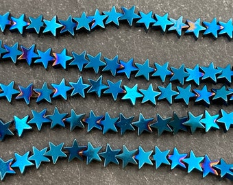 /& Gold  12 Pieces per package Blue Stars Hematite 8 mm Copper Bronze