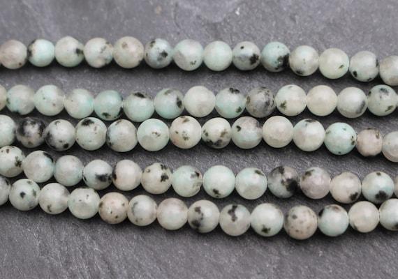 8mm Blue Grey Sesame Jasper Jewelry Making Loose beads Round 15 inch
