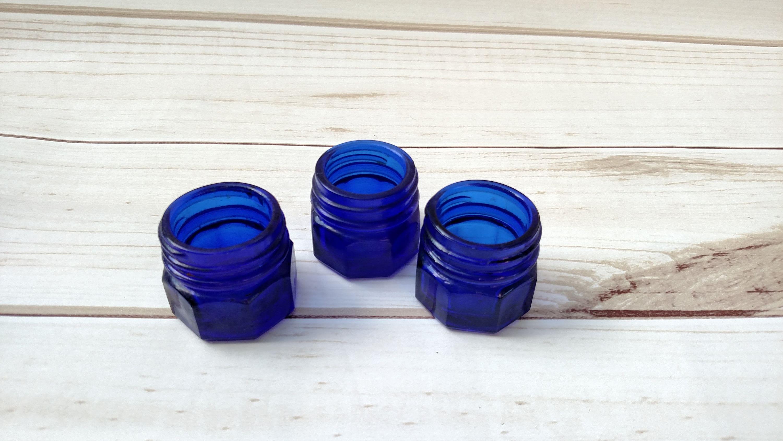Cobalt Blue Glass Bottle Set Cobalt Blue Wedding Noxzema