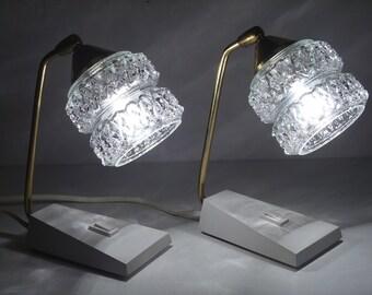 Wunderbar Paar Der 60er Jahre Gedrückt Nachttisch Lampen Temde Mitte Jahrhundert  Modern Lampe Glaskristall Weiß Transparent Blase Retro Alte Tabelle Lampen  Deutschen ...