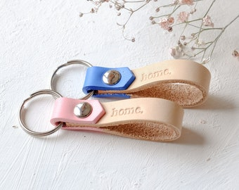 Leather Keychains Personalized, Mini Keychains, Custom Leather Keyring, Custom Christmas Gift for Woman, Stocking Stuffer Idea, Santa Gift
