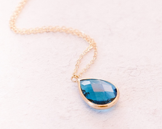 Birthstone Necklaces, Mother's Day Gift Idea, Sapphire Necklaces, Sapphire Color, September Birthstone, Gift For Mom, Blue Bridesmaid Gift