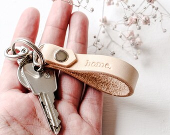 Custom Leather Keychains, Home Keyring, Personalized Keychains, Gift for Wife, Stocking Stuffer Idea, Christmas Gift for Family, Santa Gift