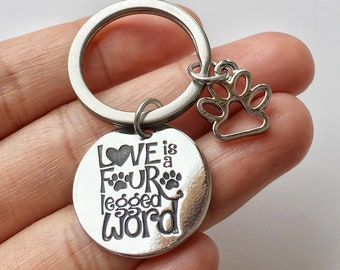 Dog Mom Keychain, Mothers Day Gift for Dog Mom, Dog Quotes Gift, Mum Dog, Dog Mommy Gift, Paw Key ring, Gift for Dog Owner, Dog Lovers Gift