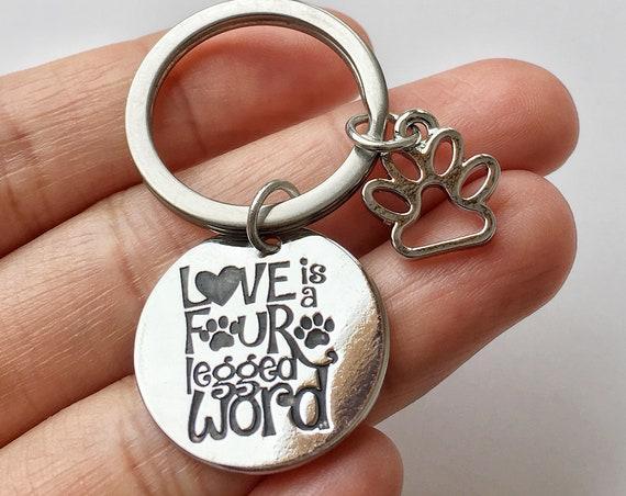 Dog Mom Keychain, Mothers Day Gift for Dog Mom, Dog Quotes Gift, Mum Dog, Dog Mommy Gift, Paw Key ring, Gift for Dog Owner, Dog Lovers Gift