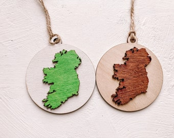 Ireland Map Christmas Decoration