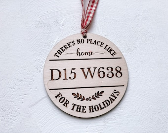 Post Code Christmas Ornament, Home Eircode Christmas Decoration.