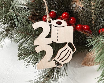 2020 Face Mask Ornament, Corona Virus 2020 Christmas Ornament, Toilet paper Ornament, Pandemic Ornament, 2020 Tree Decoration