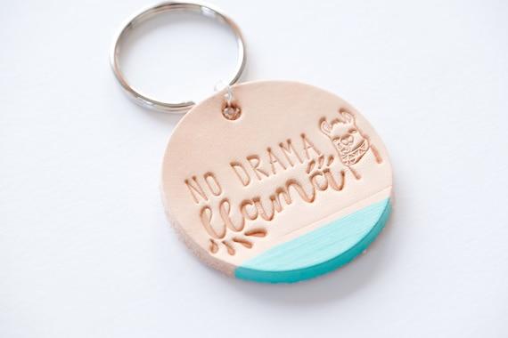 Drama Llama Keyring, Llama Keychain, Personalized Key Ring, Funny Quotes Keychain, Llama Quotes, Drama Llama