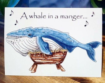 a whale in a manger - 20% off