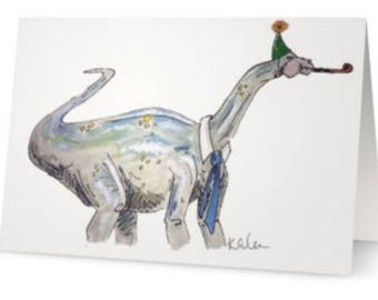 Dinosaur Birthday Card (Brachiosaurus)