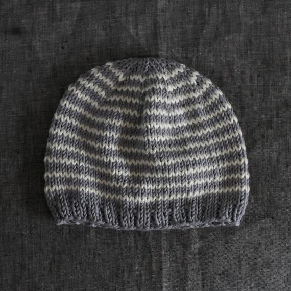 Knit Striped Baby Beanie Gender Neutral Organic Cotton Baby  4d50b86ef85