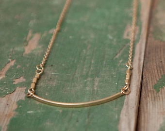 Simple long gold necklace, Gold thin necklace, Simple gold necklace, Long gold necklace, Gold dainty necklace, Long gold pendant necklace