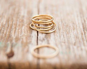Gold stacking ring, Thin ring, Tiny ring, Stacking ring, Simple gold ring, Thin gold ring, simple ring, skinny ring, Gold skinny ring