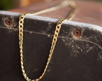 Long Link necklace, Gold link necklace, Simple long gold necklace, Simple gold necklace, Long gold necklace, Gold dainty necklace