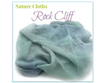 Waldorf Nature Table, Nature Scarves, Nature Table Cloths, Seasonal Decoration Fabric, Blue Rock Cliff, Waldorf Home, Cotton, Hand-Dyed