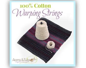 Cotton Warping Sting for Tapestry Looms, Weaving Warp, Children's Loom Warp String, Lap Loom String, Table Loom Warp, Woven Wall Hanging